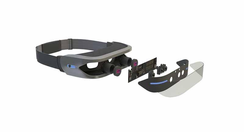 VR- und AR-Brille ausgestattet mit zahlreichen Sensoren.
