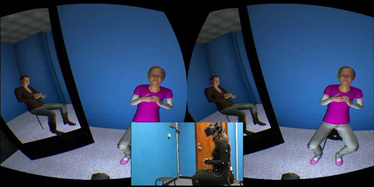 Mehr als 50 Prozent der Patienten zeigten nach einem Monat Virtual-Reality-Therapie weniger Anzeichen einer Depression.