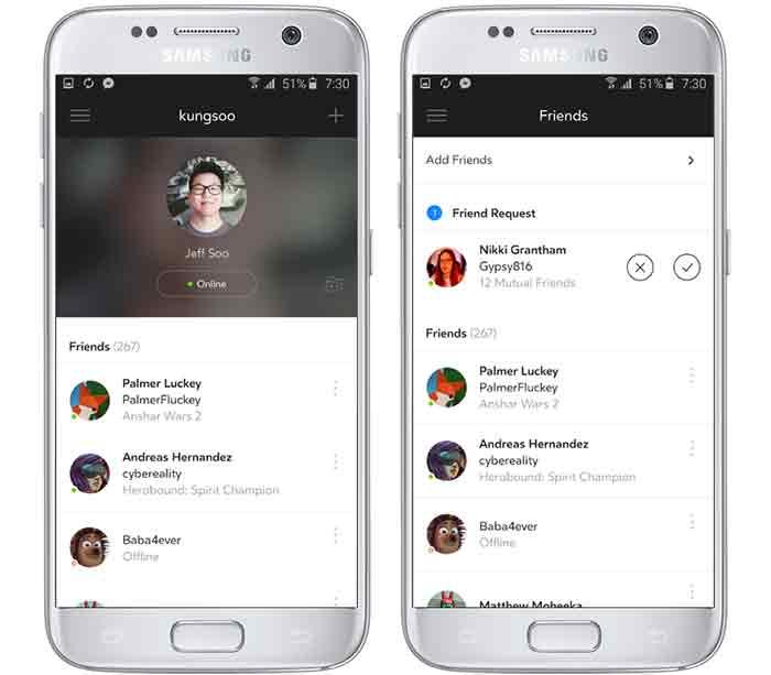 Apps bewerten und Freunde finden. BILD: Oculus VR