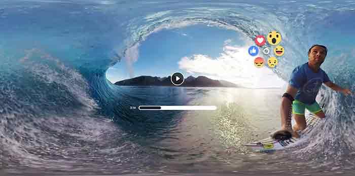 Mit Facebook-Emoticons 360-Videos bewerten - direkt in Gear VR. BILD: Oculus