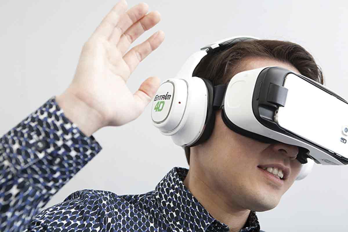 Samsung will unsere Innenohren mit elektronischen Signalen stimulieren, um Bewegungen in Virtual Reality körperlich spürbar zu machen.