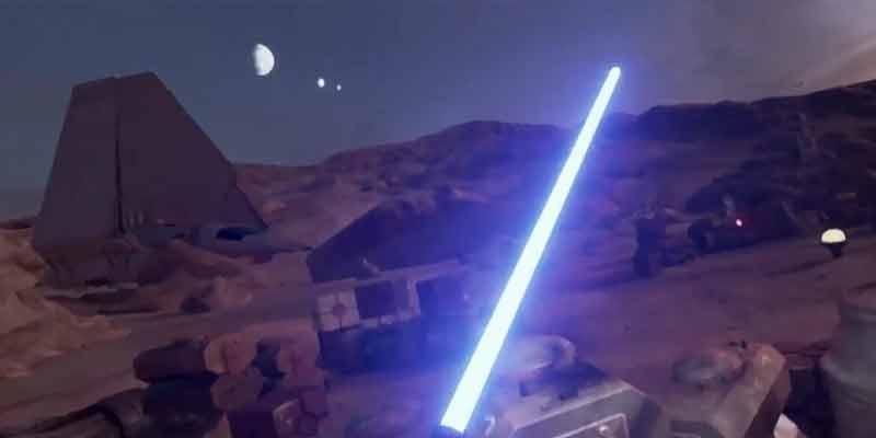 Der kurze Teaser zeigt unter anderem ein Lichtschwertduell. BILD: ILM via Engadget (Screenshot bei YouTube)