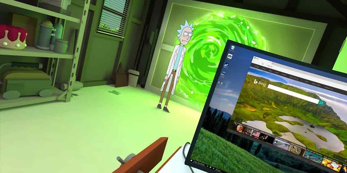 """Ist das Büro der Zukunft virtuell? """"Virtual Desktop"""" für Oculus Rift und HTC Vive gibt einen Ausblick auf den Virtual-Reality-Schreibtisch."""