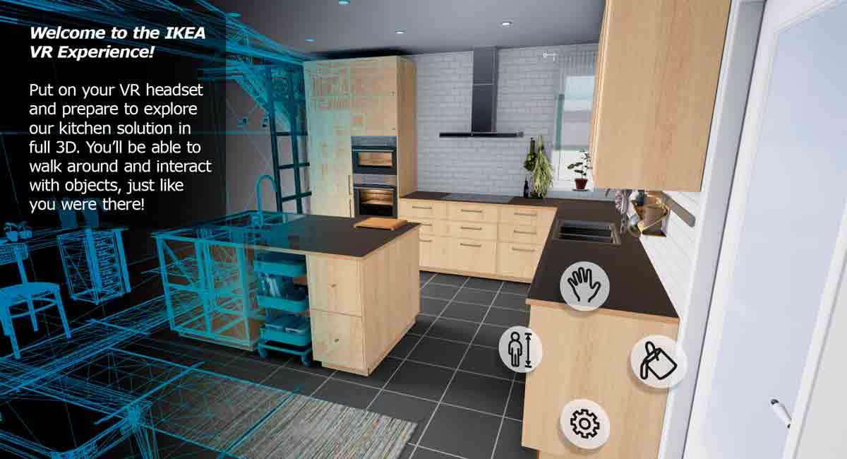 Virtual Reality und Küchenplanung - wird daraus eine echte Liebesbeziehung? Ikea glaubt daran und stellt ein erstes VR-Experiment für HTC Vive auf Steam zur Verfügung.