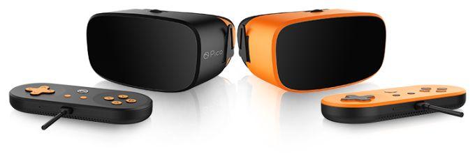 Ganz schick in Schwarz und Orange. Die Brille soll sehr leicht und bequem sein. Bild: Pico