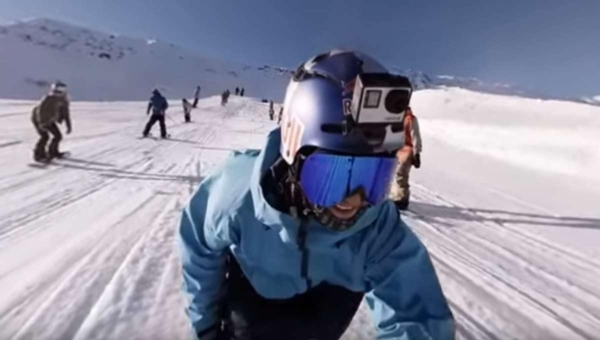 Erste Aufnahmen des GoPro Omni-Rigs: Freestyle-Ski in den Alpen