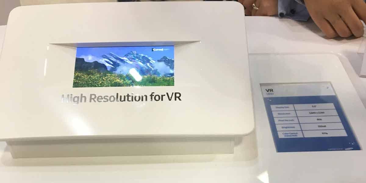 4K-Displays würden die Bildqualität beim Einsatz mit mobilen VR-Brillen signifikant verbessern. Samsung zeigt einen ersten Prototypen.