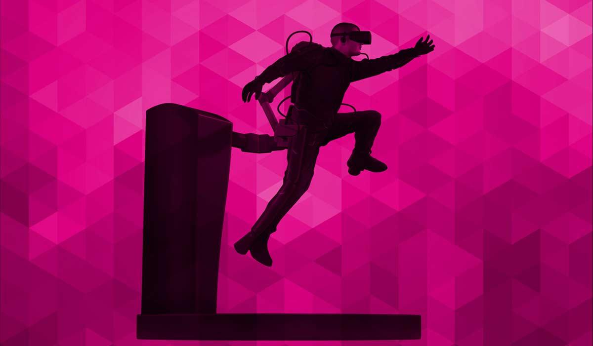AxonVR ist ein Exoskelett für Virtual Reality und soll die virtuelle Welt begeh- und fühlbar machen. Das System ist spektakulär.