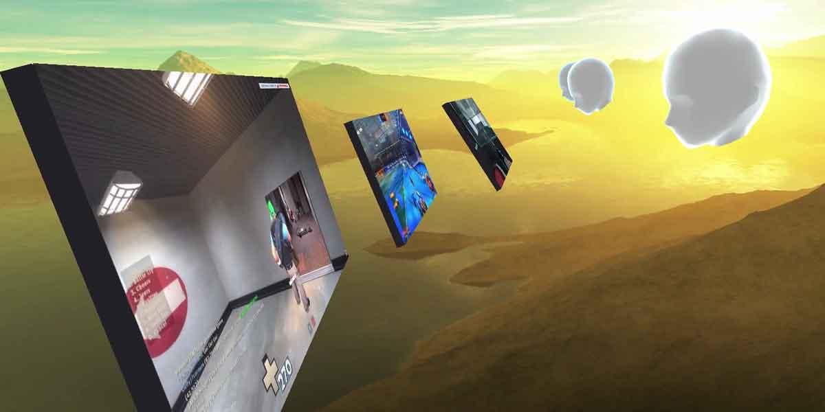 Netflix Binge Watching in Virtual Reality mit vier Freunden? Die Beta von BigScreen VR für HTC Vive und Oculus Rift macht's möglich.