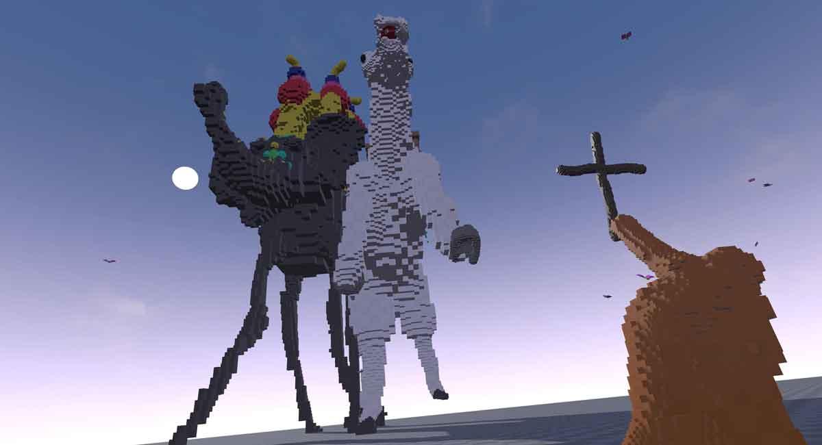 Allmächtig wie ein Gott oder klein wie eine Ameise. Mit SculptrVR kann man aus jeder Perspektive kreieren und ganze Welten erschaffen.