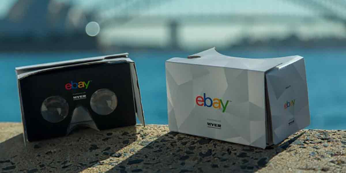 Wann und wie wird VR-Commerce eine Sache? Ebay startet gemeinsam mit der Handelskette Myer in Australien einen ersten Testballon.