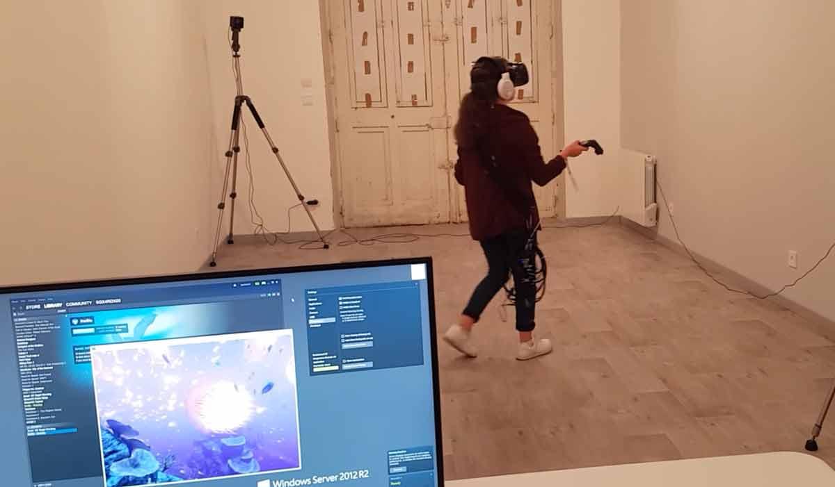 HTC Vive: Streaming-Profis zeigen kabellose Version der VR-Brille