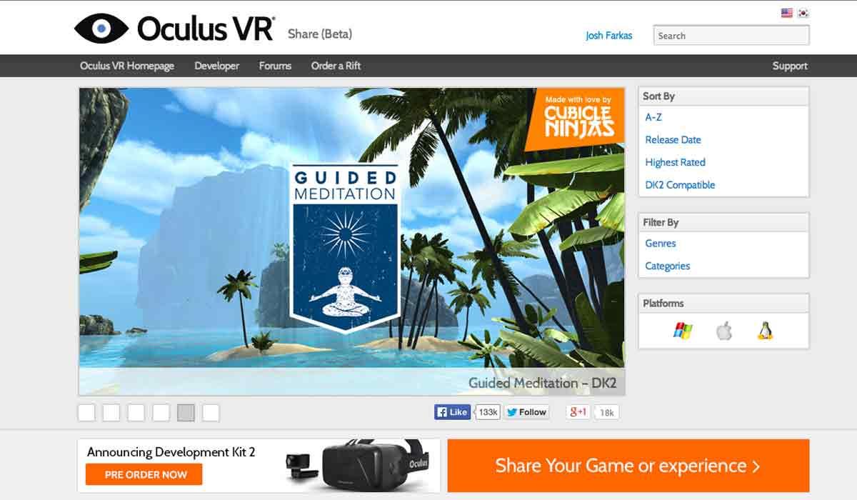 Das Ende einer Ära: Für Entwickler und VR-Enthusiasten war Oculus Share in den letzten drei Jahren die wichtigste App-Community im Netz.