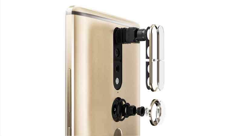 Herzstück der Tango-Technologie sind die Sensor-Kameras auf der Rückseite. BILD: Lenovo