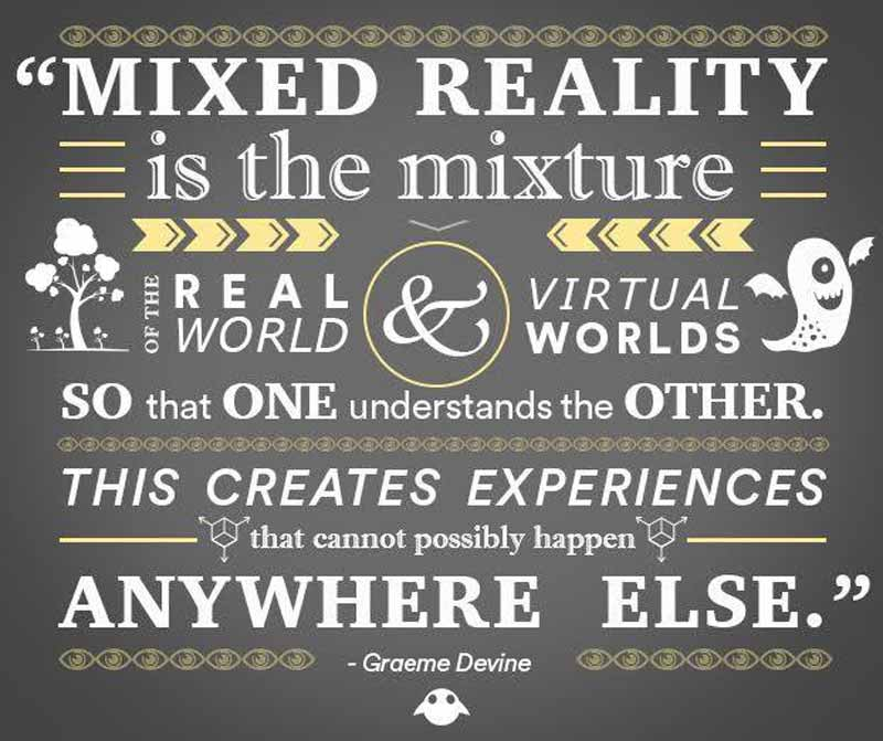 "Magic Leaps Definition der ""Mixed Reality"". BILD: Magic Leap / Facebook"