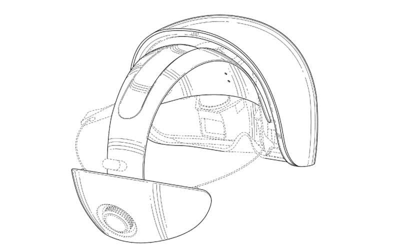 Blick auf die Linsen der Magic Leap VR-Brille. Bild: US-Patentamt / Magic Leap