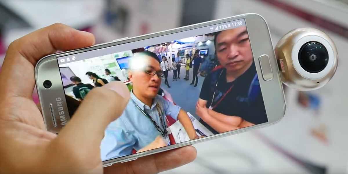 Ansteckbare 360-Kamera für Android-Smartphones filmt in 3D