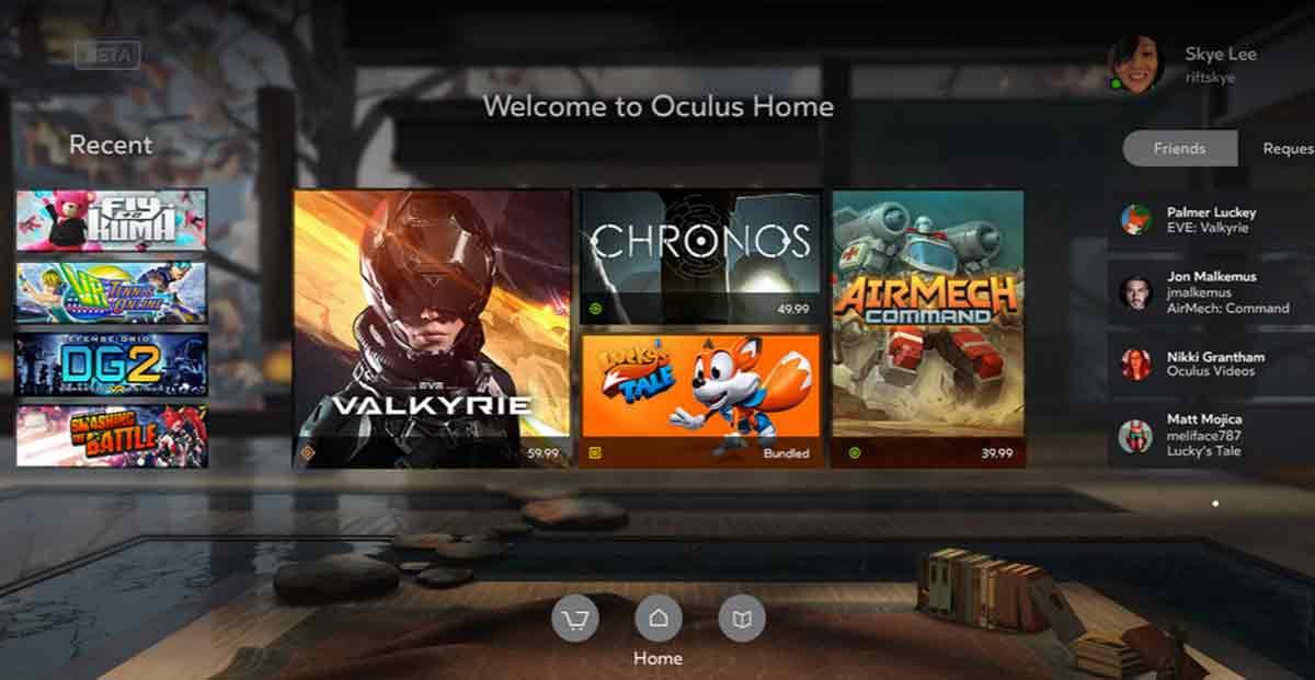 Samsung Gear VR: Update für Oculus Home