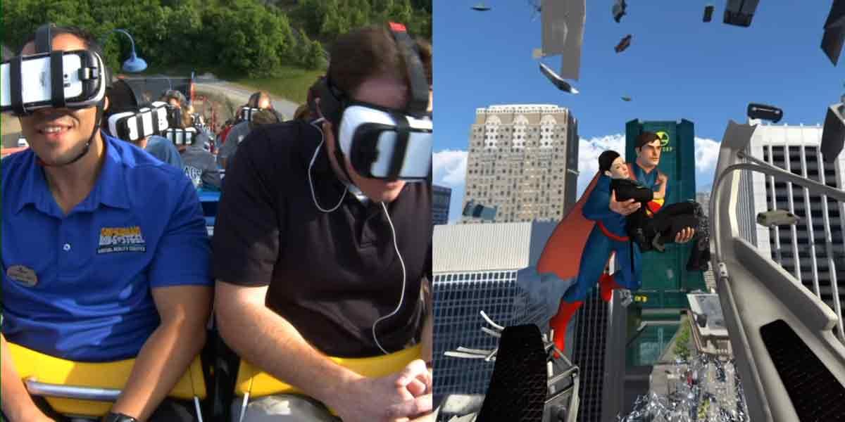 Superman-Achterbahn mit Samsung Gear VR