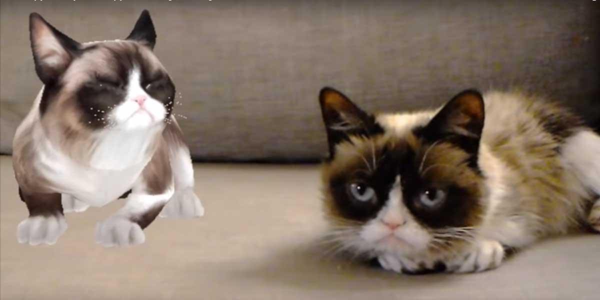 Hololens: Grumpy Cat trifft auf digitale Kopie