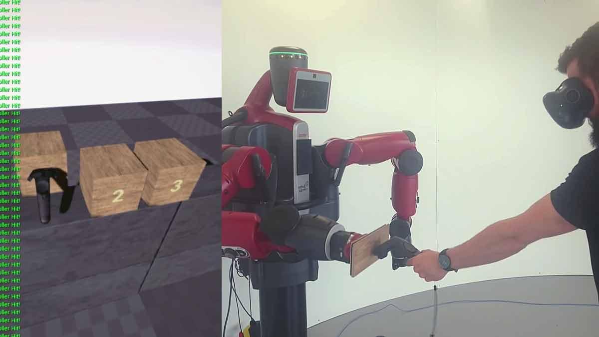 Wie kann man in Virtual Reality haptisches Feedback simulieren? Mit einem 25.000 US-Dollar teuren Roboter, der aktiv Widerstand leistet.