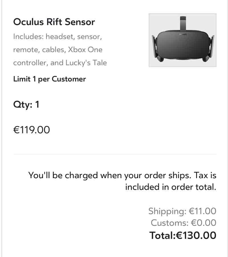 Zumindest im Einzelverkauf ist die Sensorkamera recht teuer. Bild: Reddit-Nutzer Kootal