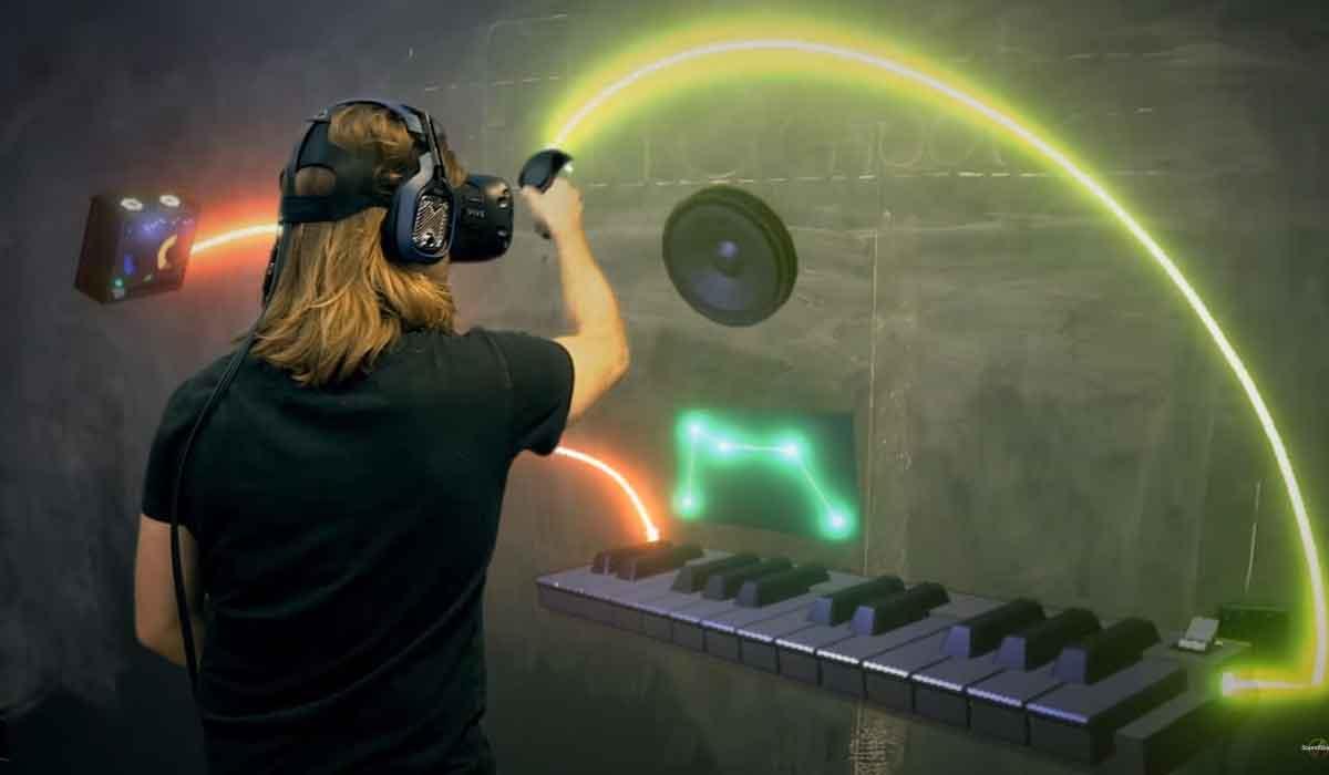 Faktisch digital, gefühlt analog: Soundstage für HTC Vive macht 80er-Jahre Zeitgeschichte erlebbar. Für Fans von Synthie-Pop ein Muss.