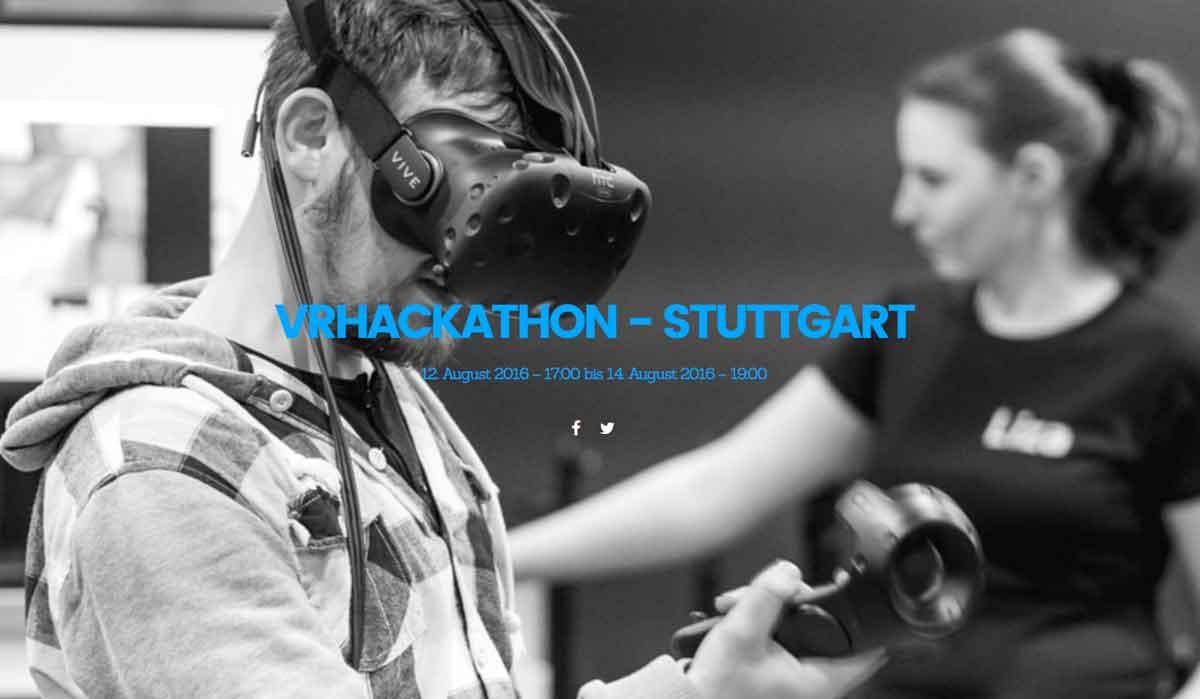 VR-Hackathon in Stuttgart vom 12. bis zum 14. August *Update*