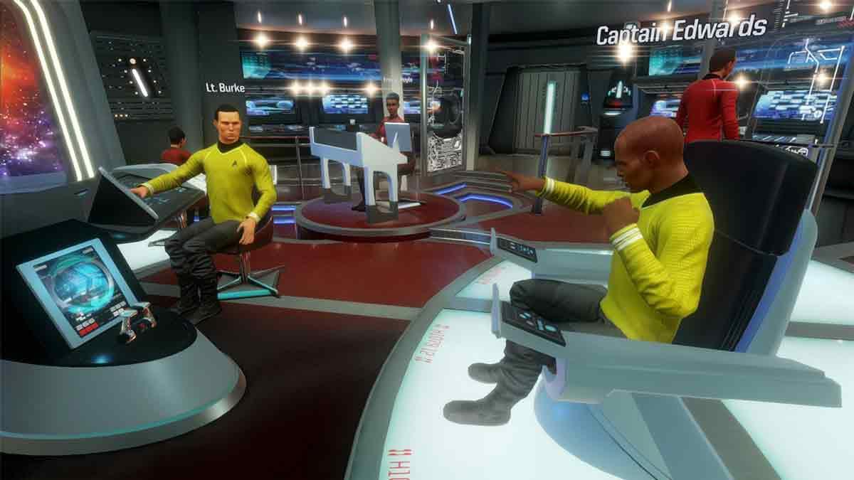 In Stark Trek: Bridge Crew für Oculus Rift, HTC Vive und Playstation VR übernimmt man mit Freunden die Brücke der USS Aegis.