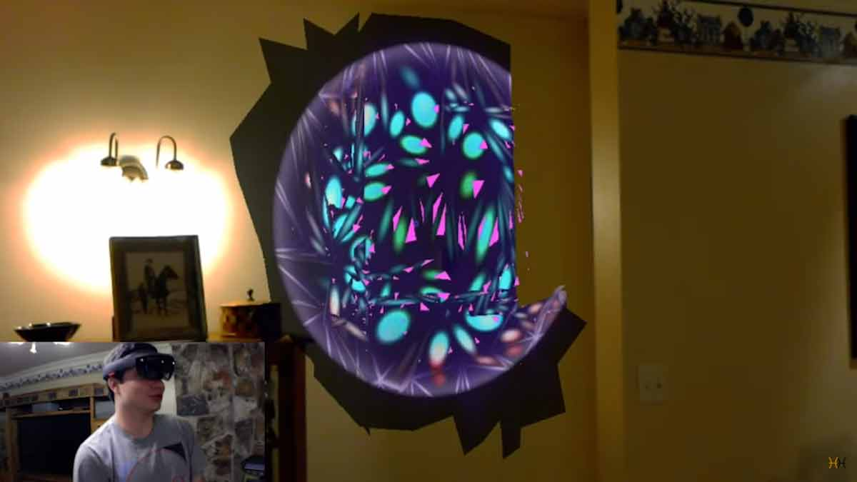Hololens: Digitales Wallpaper für den realen Raum