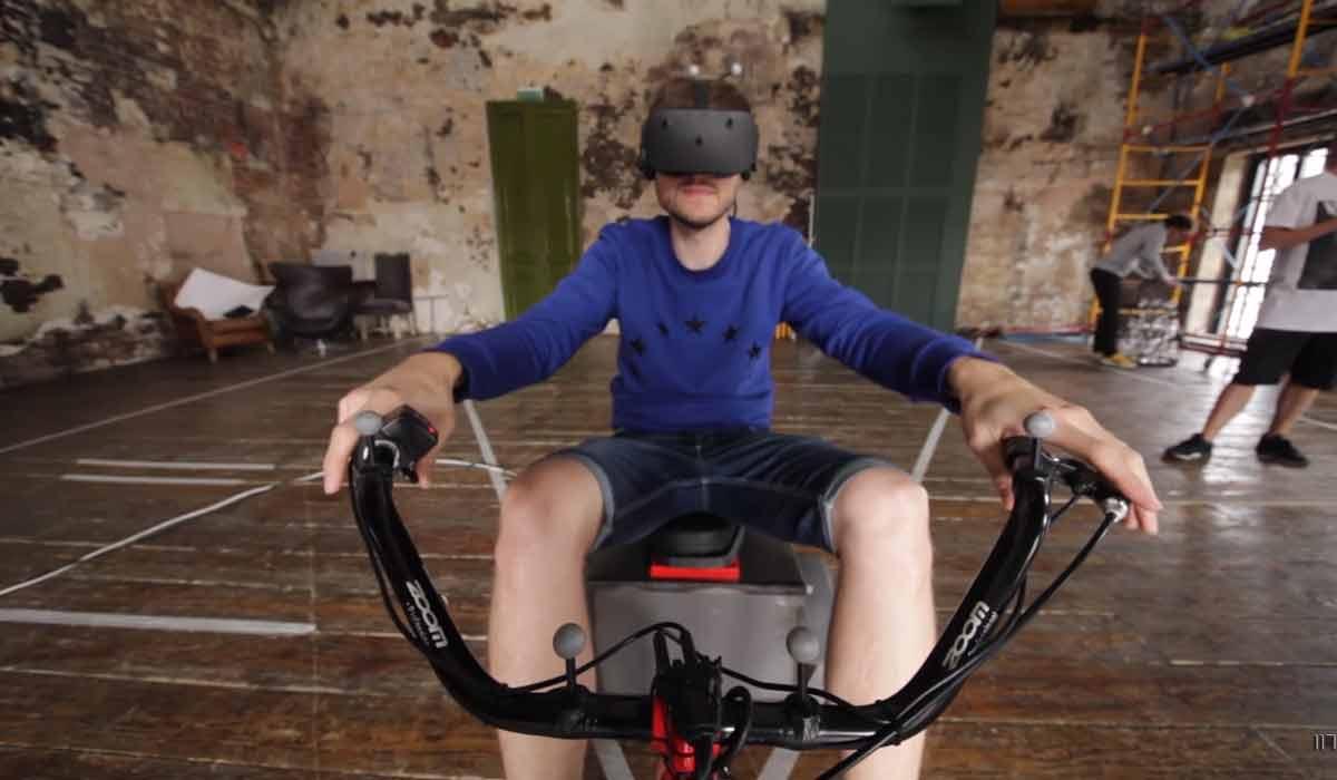 Virtual Reality: Auf dem Trike-Bike durch die virtuelle Realität
