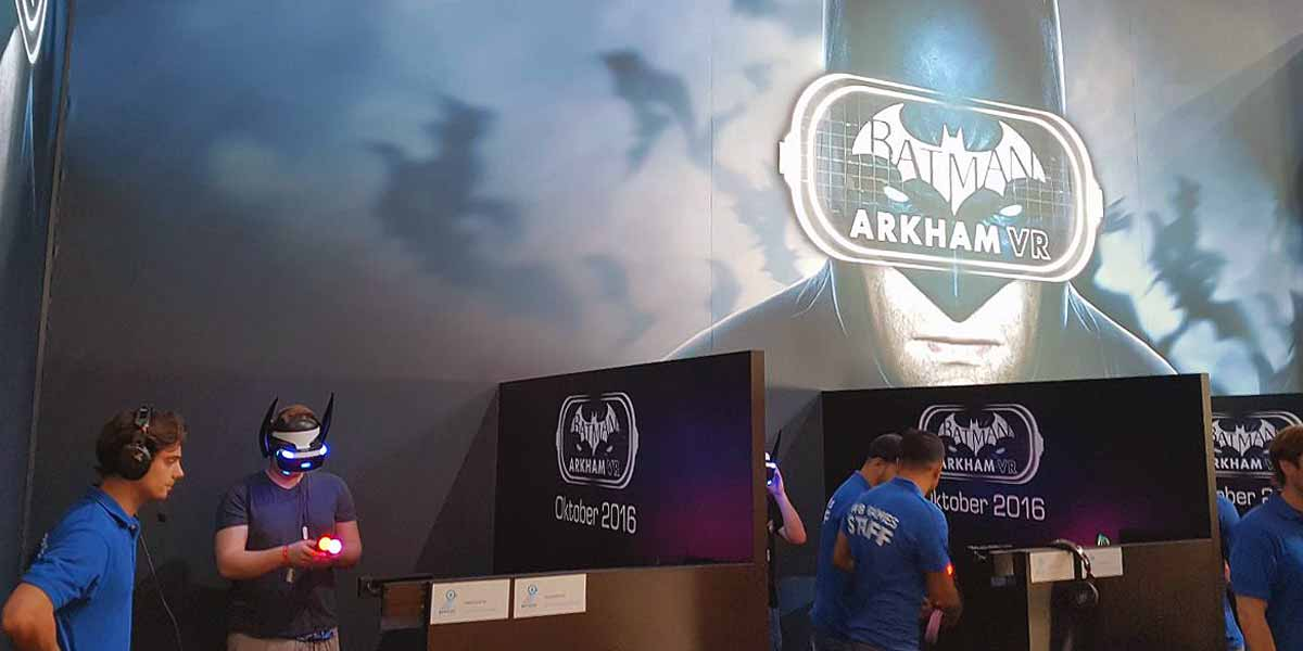 Ab in die Virtual Reality - Hands-on mit Playstation VR und Resident Evil 7 sowie Batman: Arkham VR auf der Gamescom 2016 in Köln.