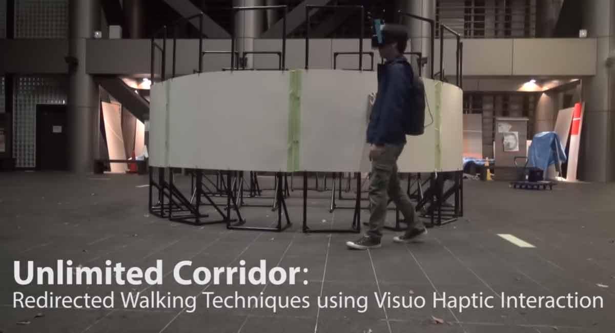 Der Korridor ohne Ende gibt VR-Nutzern das Gefühl, sich konstant vorwärts zu bewegen - obwohl sie eigentlich im Kreis laufen.