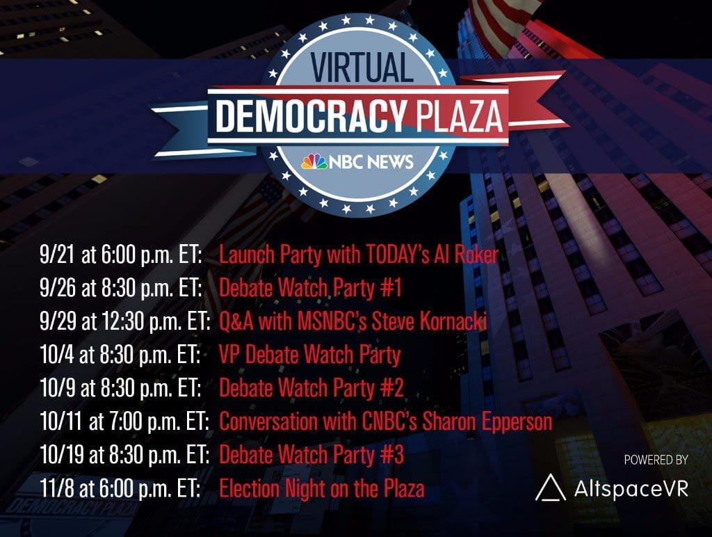 Die anstehenden Altspace VR-Events zu den US-Wahlen