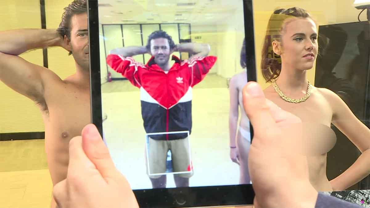 Augmented Reality: Lyst läßt Passanten an Models Kleider ausprobieren