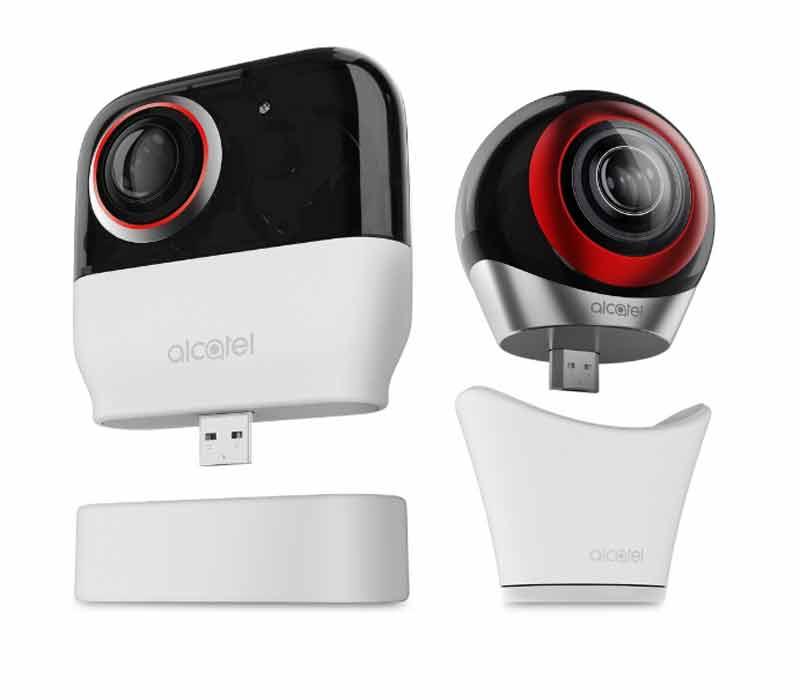 Alcatel bringt eine 360-Kamera fürs Smartphone.
