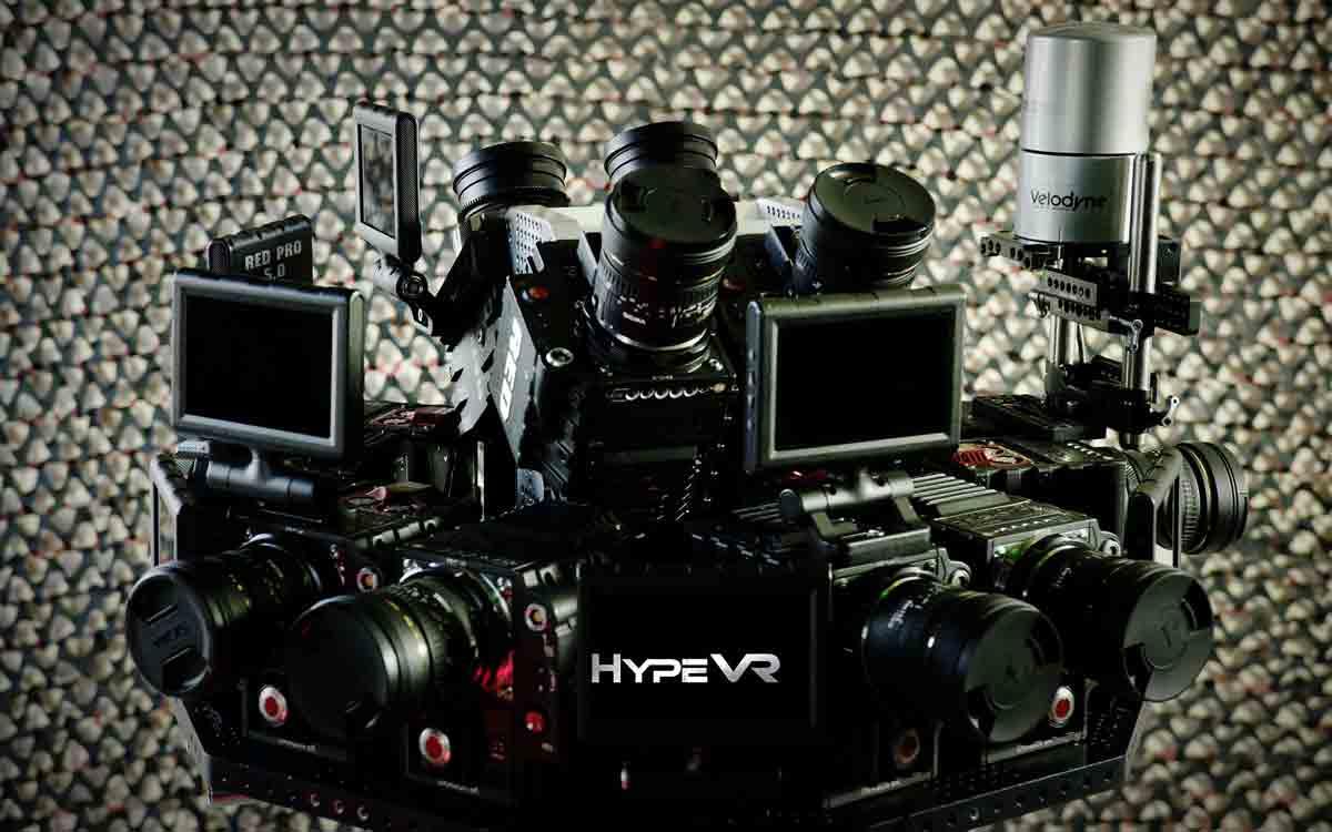 Mit insgesamt 14 Red-Dragon-Kameras und einem Laser-Radar filmt das VR-Startup HypeVR volumetrische 360-Videos.