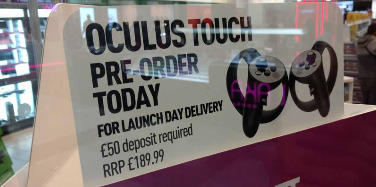 Oculus Rift: Preis für Oculus Touch so gut wie bestätigt