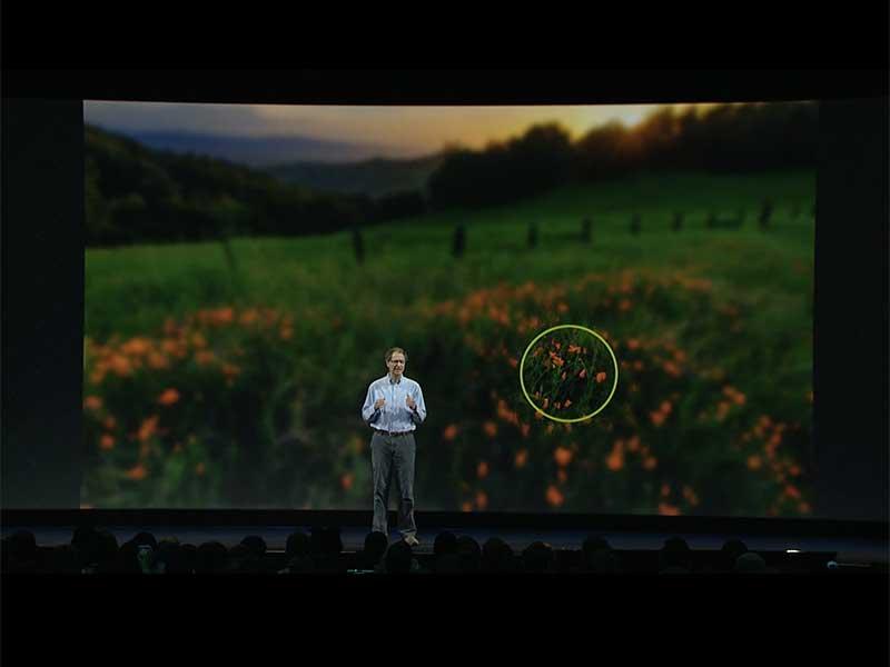 Abrams illustriert, wie Foveated Rendering funktioniert. BILD: Oculus VR