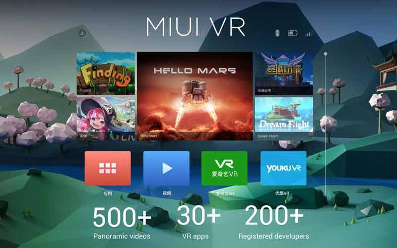 MIUI VR: Der Online-Shop erinnert in der Anmutung stark an Googles Daydream. Bild: Xiaomi
