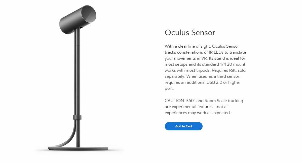 Oculus Rift: Oculus Sensor für 360-Tracking jetzt für 89 Euro vorbestellbar