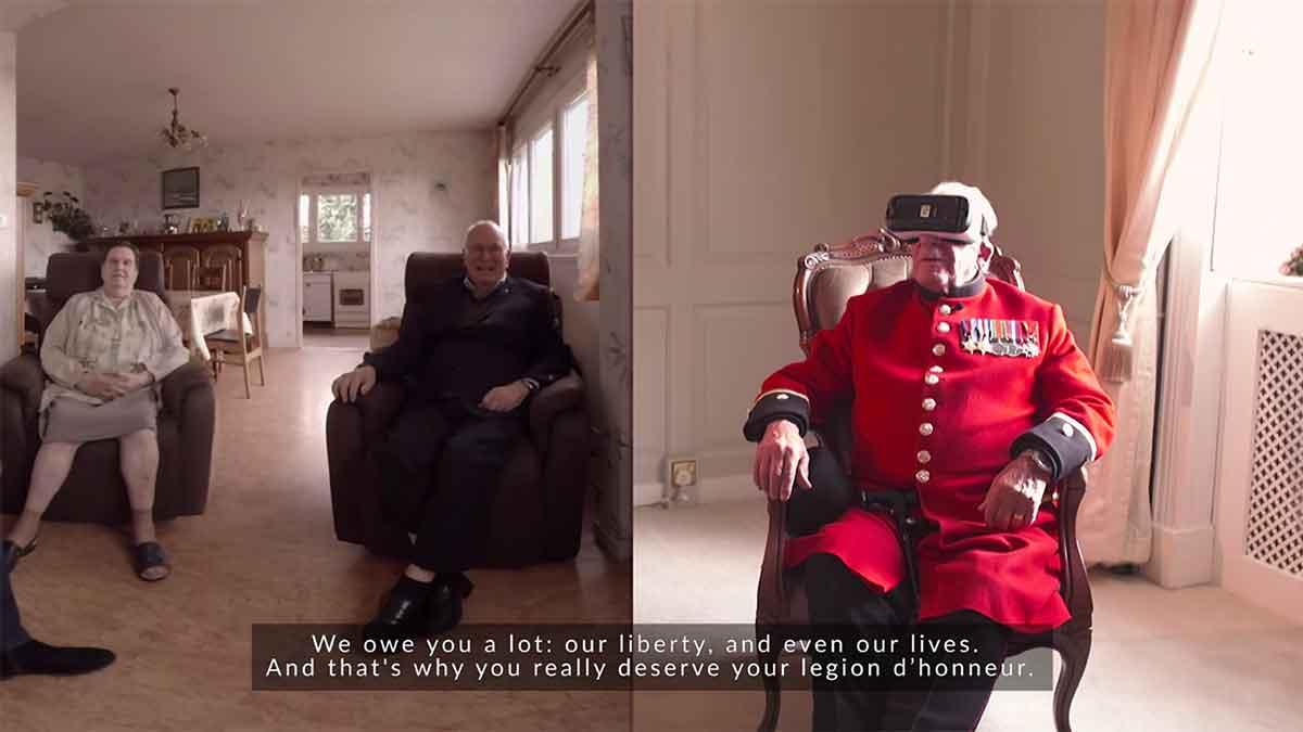 Virtual Reality: Kriegsveteran besucht befreite Stadt per VR-Brille