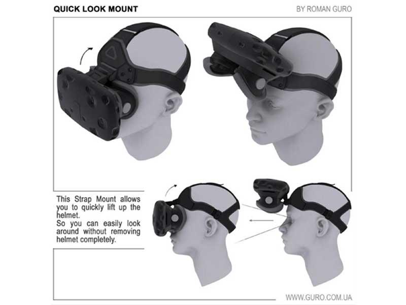 Praktische neue Kopfbefestigung: Die klappbare VR-Brille.