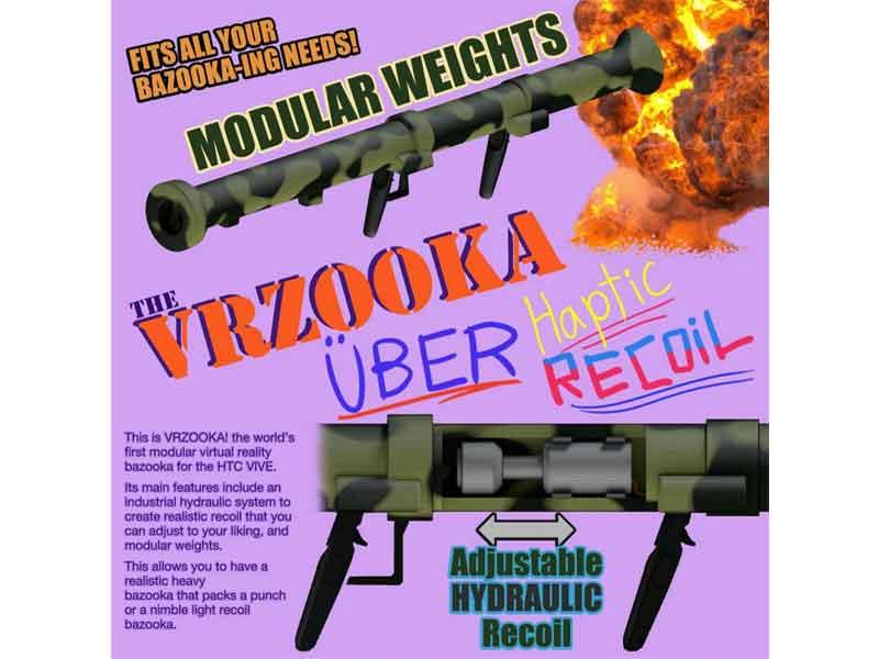 Martialisch: Der Vive-Controller wird zum Raketenwerfer.