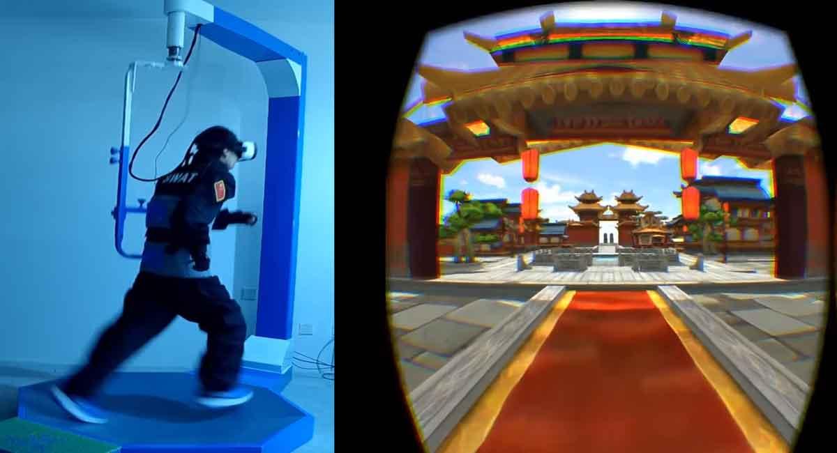 Neues Virtual-Reality-Laufband Vue VR soll Spielern Beine machen