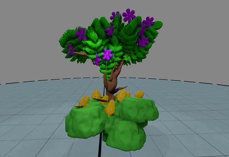 Wie man so einen Baum formt, bekommt man in einem Tutorial erklärt. Das ist auch für Laien machbar.