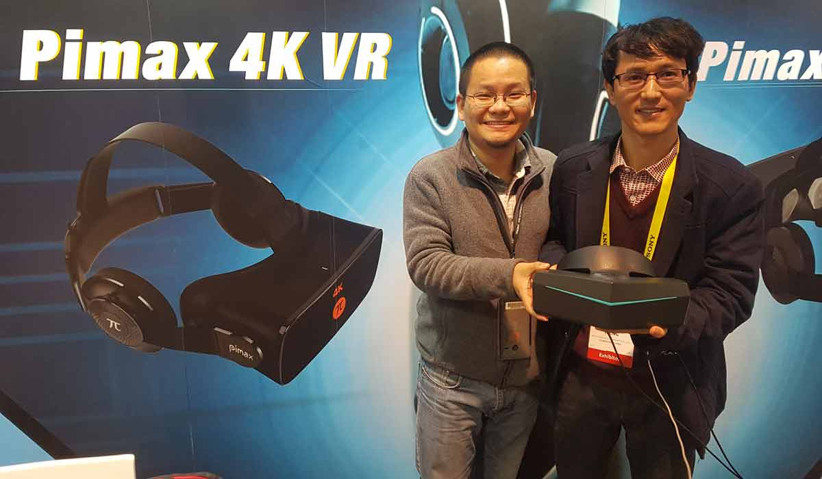 CES 2017: Pimax zeigt VR-Brille mit 2x4K und 200-Grad-Sichtfeld, erstes Hands-on