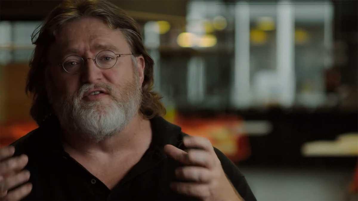 """Laut Valve-Chef Gabe Newell erwartet uns 2020 noch eine """"furchteinflößende"""" Hirn-Interface-Ankündigung - mit vollständigem Schreib- und Lesezugriff."""