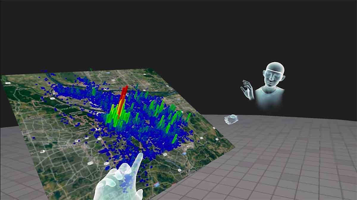 Virtualitics nutzt Virtual Reality, um komplexe Datensätze zu visualisieren und Big Data auf diese Weise Geheimnisse zu entlocken.