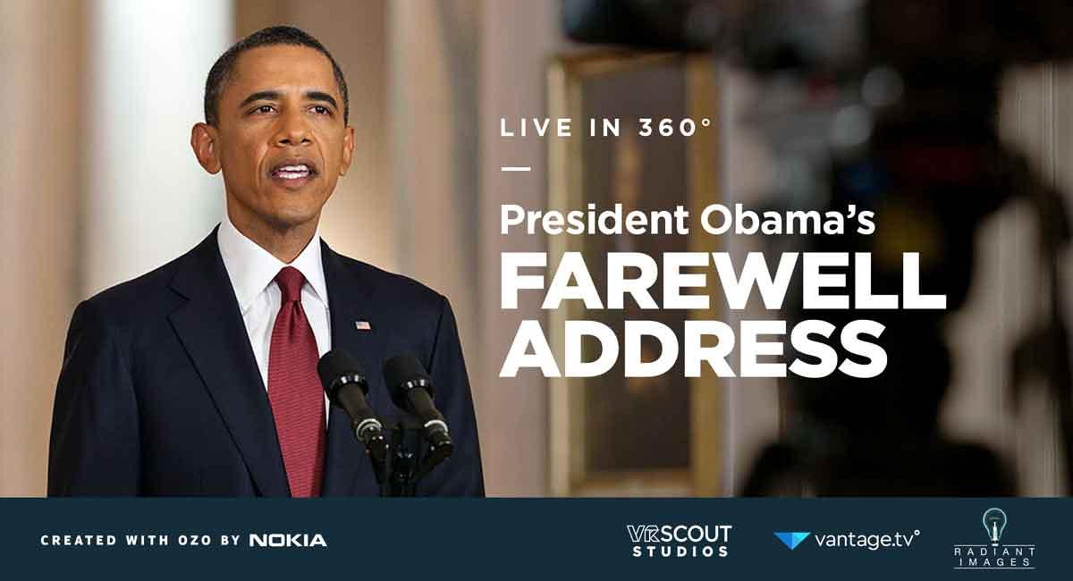 Der US-Präsident geht: Obamas Abschiedsrede in 360-Grad erleben